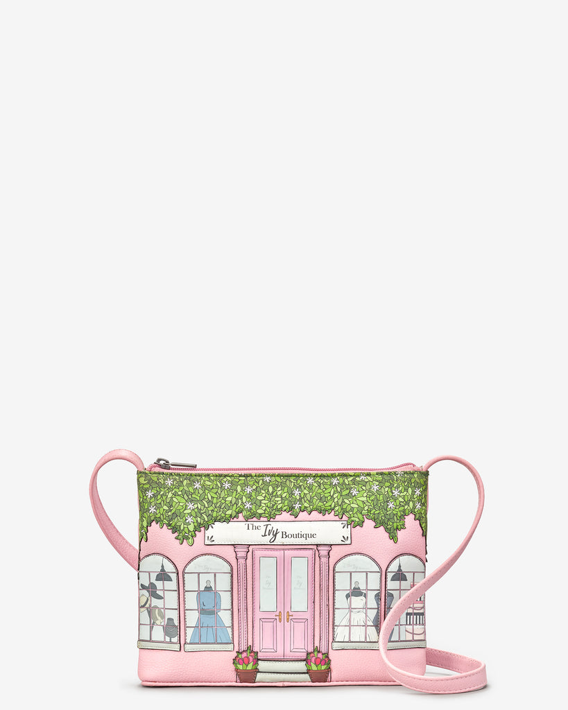 Ivy Boutique Pink Leather Cross Body Bag - Yoshi