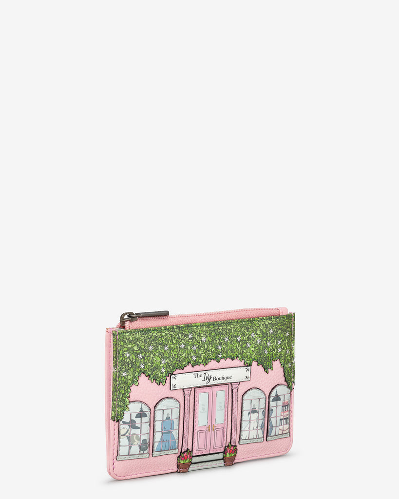 Ivy Boutique Zip Top Pink Leather Purse - Yoshi