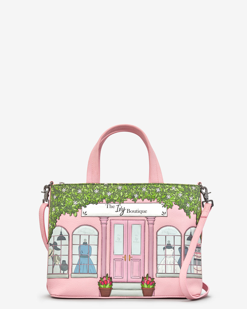 Ivy Boutique Pink Leather Multiway Grab Bag - Yoshi