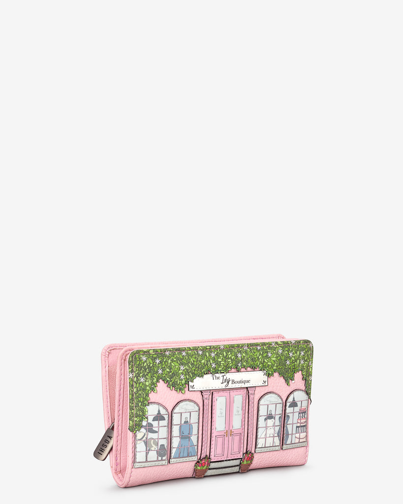 Ivy Boutique Pink Leather Oxford Purse - Yoshi