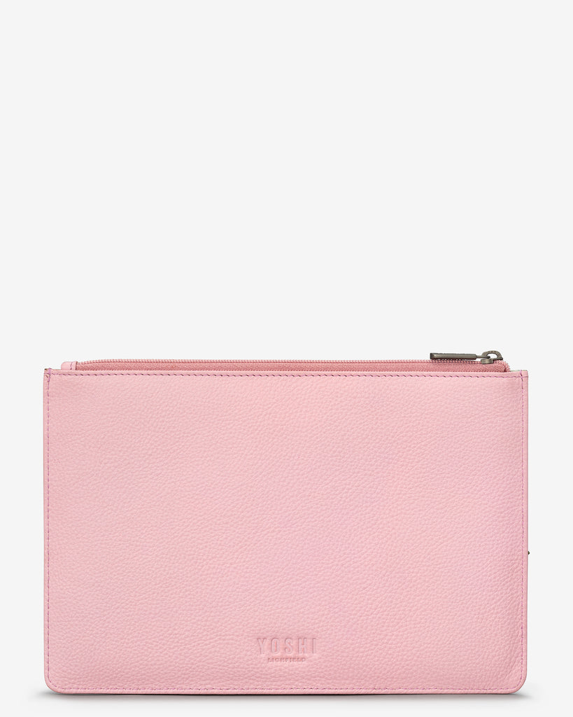 Ivy Boutique Pink Leather Brooklyn Pouch - Yoshi