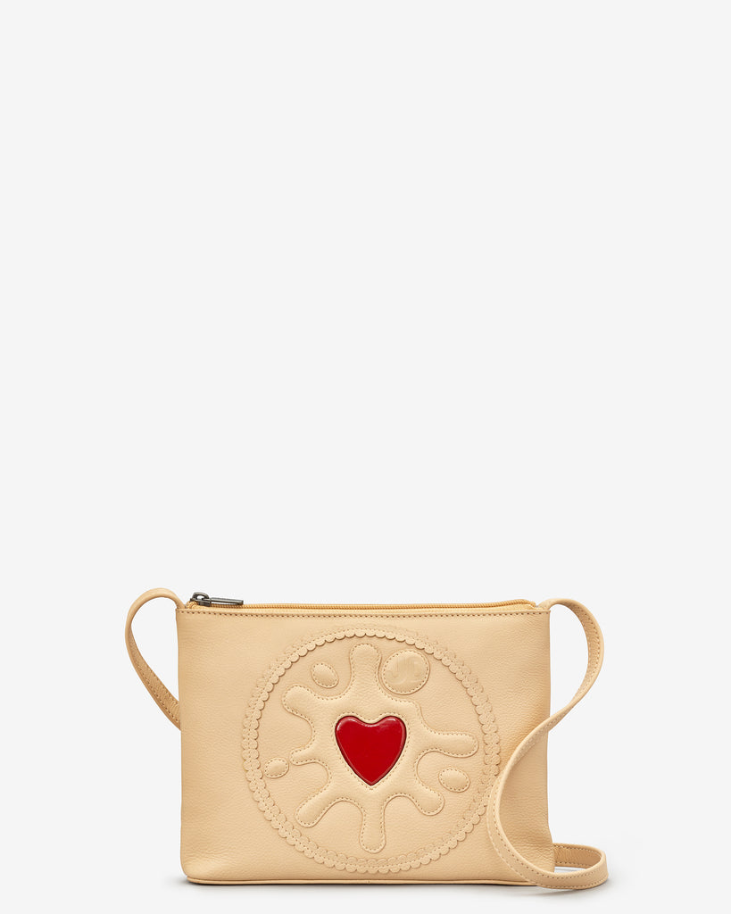 Jammie Dodger Biscuit Leather Across Body Bag - Yoshi