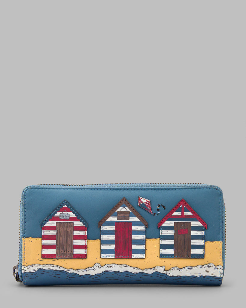 Lazy Daze Zip Around Leather Purse - Blue - Yoshi