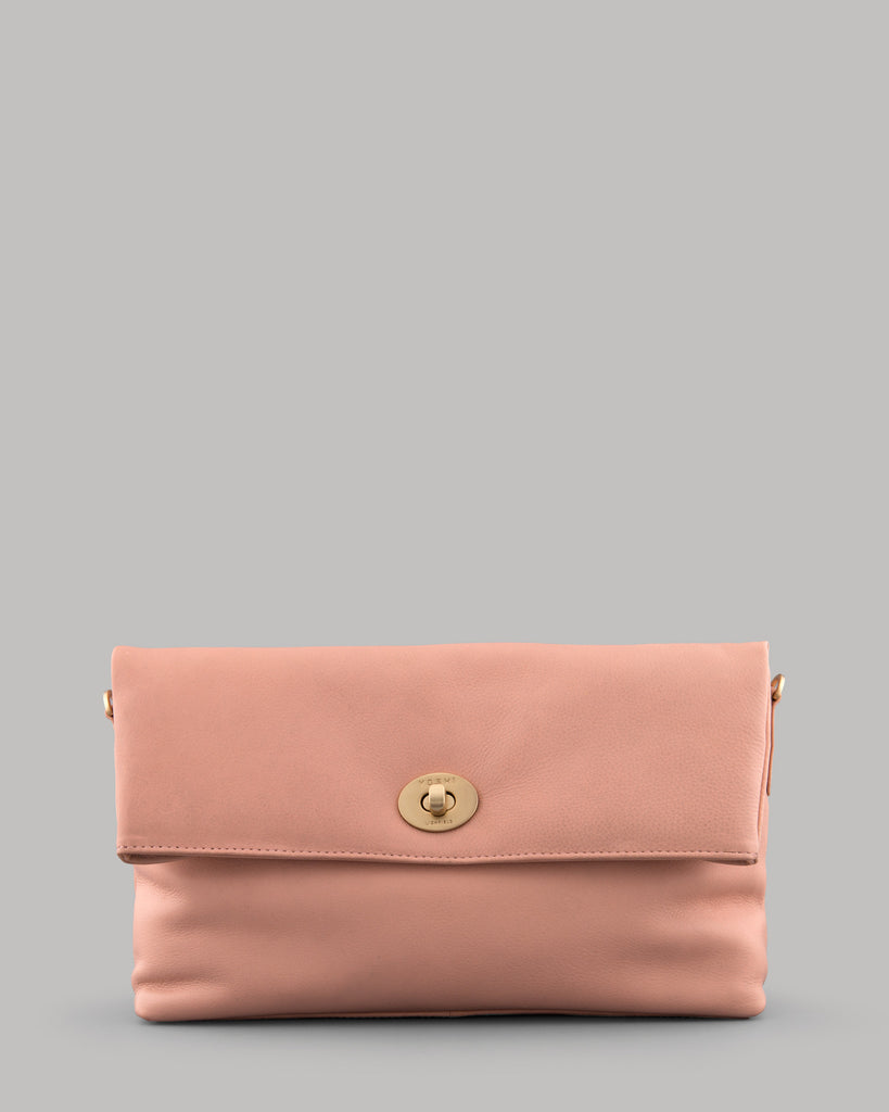 Lowry Melba Pink Ladies Shoulder Clutch Bag By Yoshi