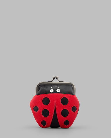 Lucy the Ladybird Leather Clip Top Frame Purse a