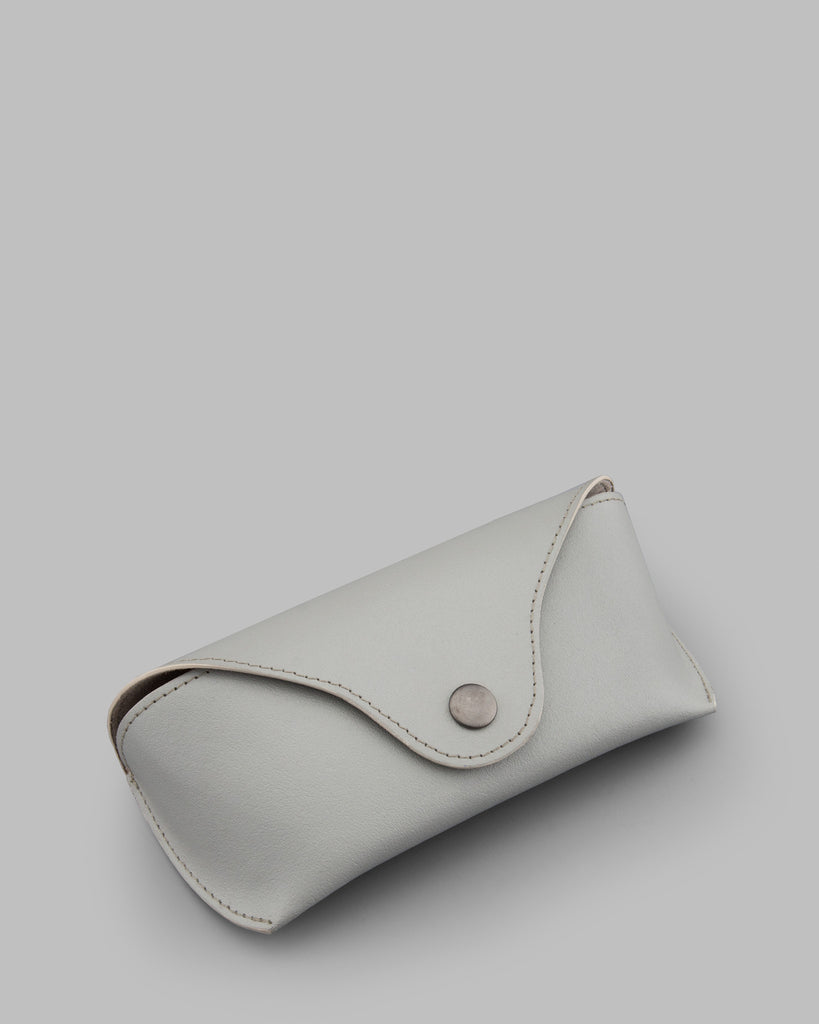 Lunar Grey Leather Glasses Case b