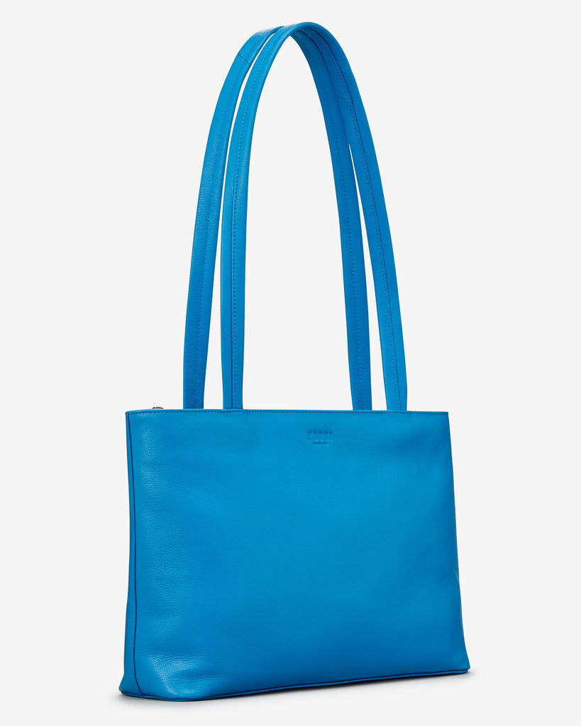 Madison Cobalt Blue Leather Shoulder Bag - Yoshi