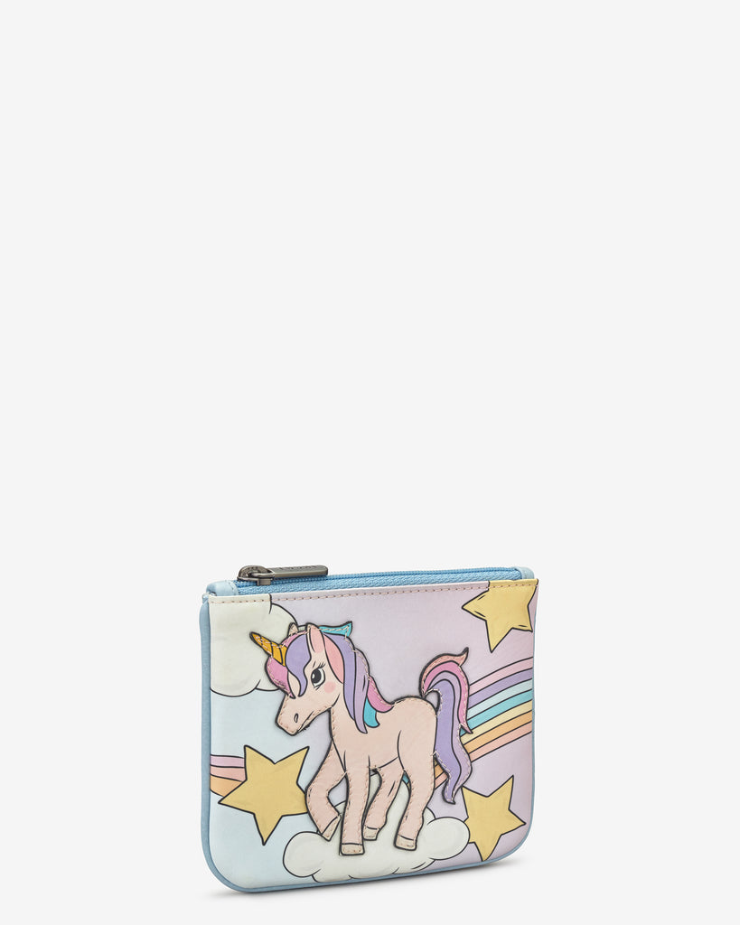 Magical Unicorn Zip Top Leather Purse - Yoshi