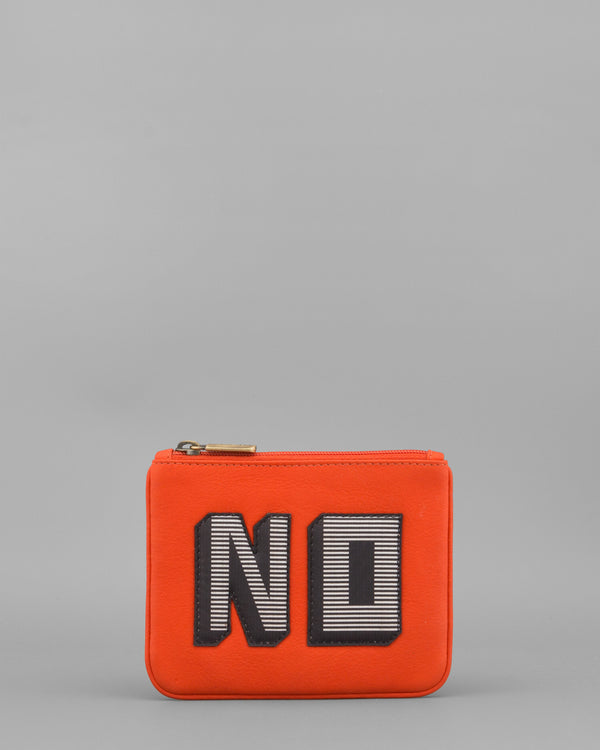 Make Your Mind Up No Tangerine Leather Coin Purse by Yoshi A