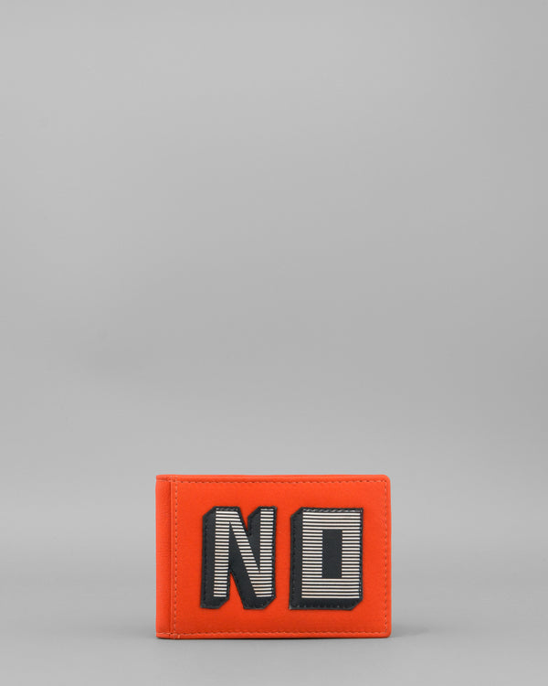 Make Your Mind Up No Tangerine Leather Oyster Card Holder by Yoshi A