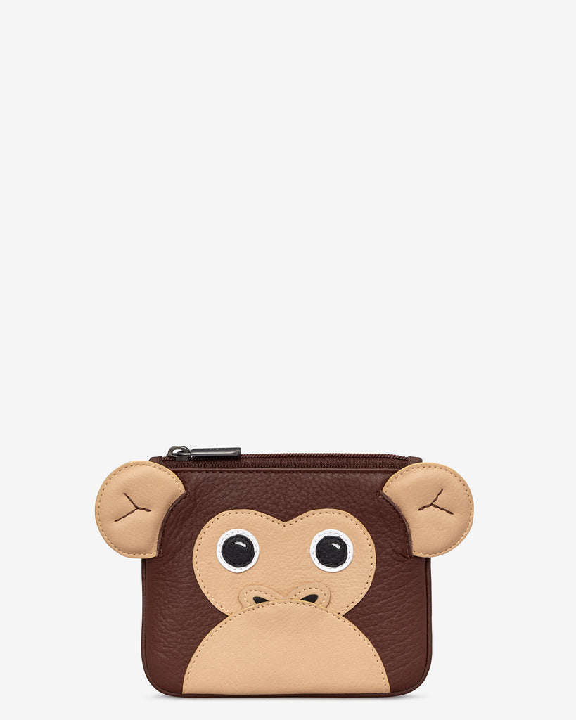 Marcel the Monkey Zip Top Leather Purse - Yoshi
