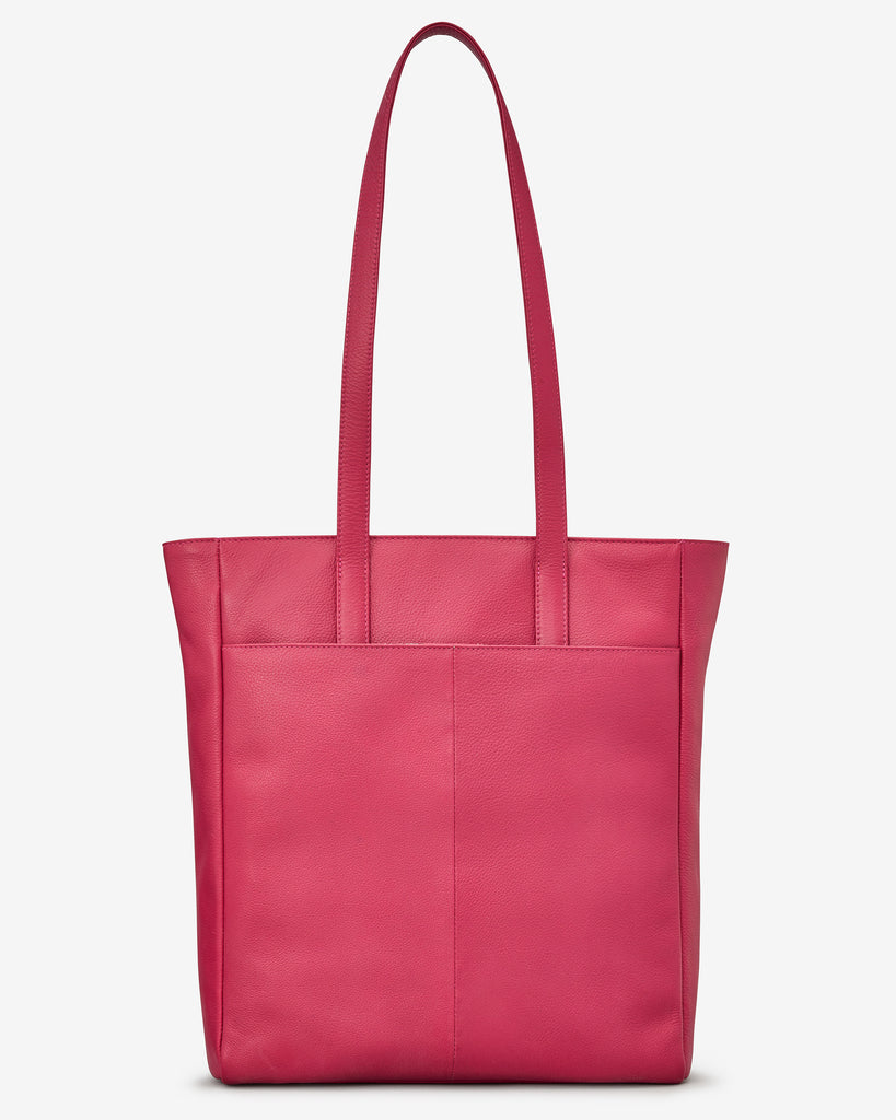 Marlowe Raspberry Leather Shopper Bag - Yoshi