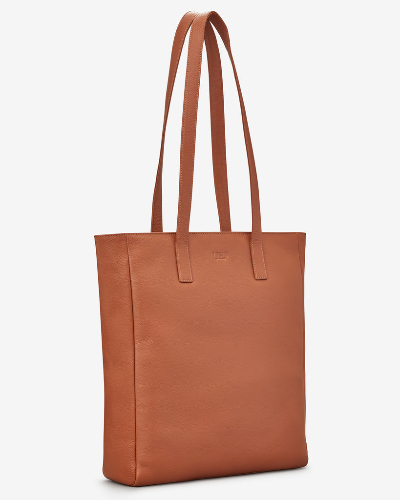 Marlowe Tan Leather Shopper Bag - Yoshi