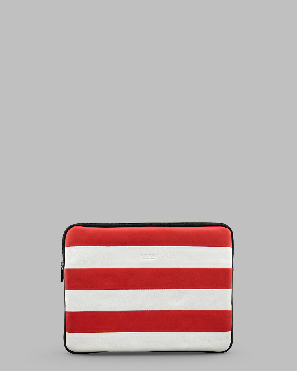 Marty Red & White Stripe Leather iPad Tablet Case A