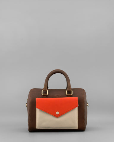 Maverick Brown Leather Grab Bag by Yoshi A