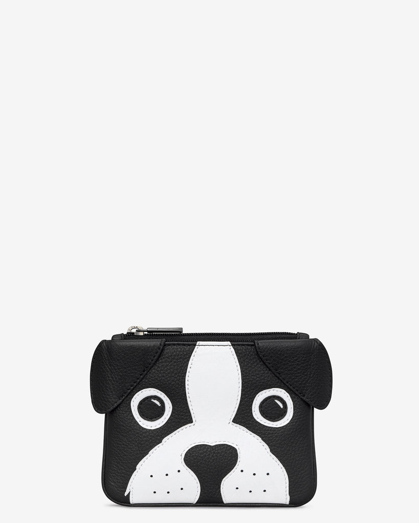 Max The Dog Zip Top Leather Purse - Yoshi
