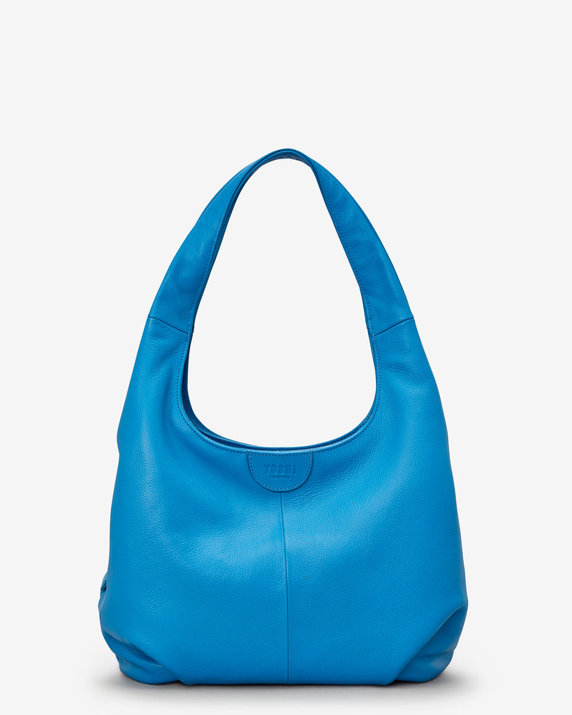 Meehan Cobalt Blue Leather Slouch Shoulder Bag - Yoshi