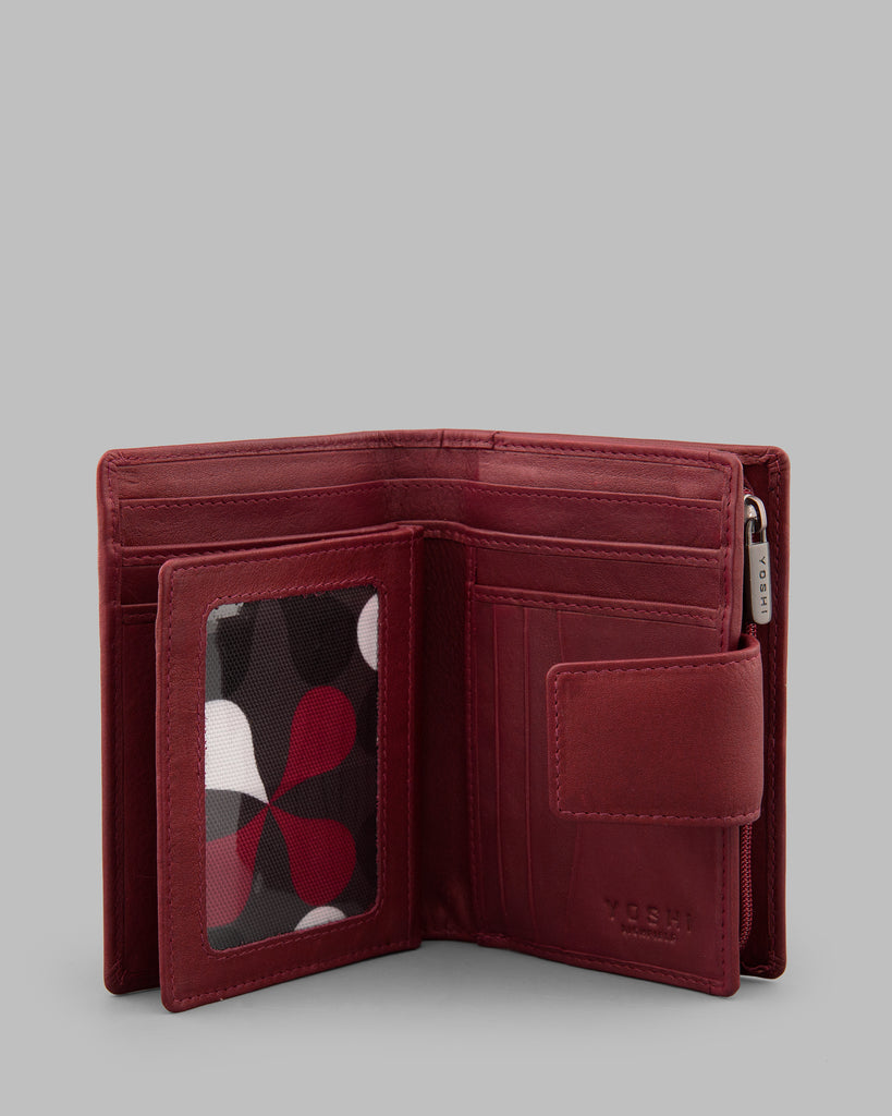 Dark Red Leather Meehan Everyday Purse - Dark Red - Yoshi