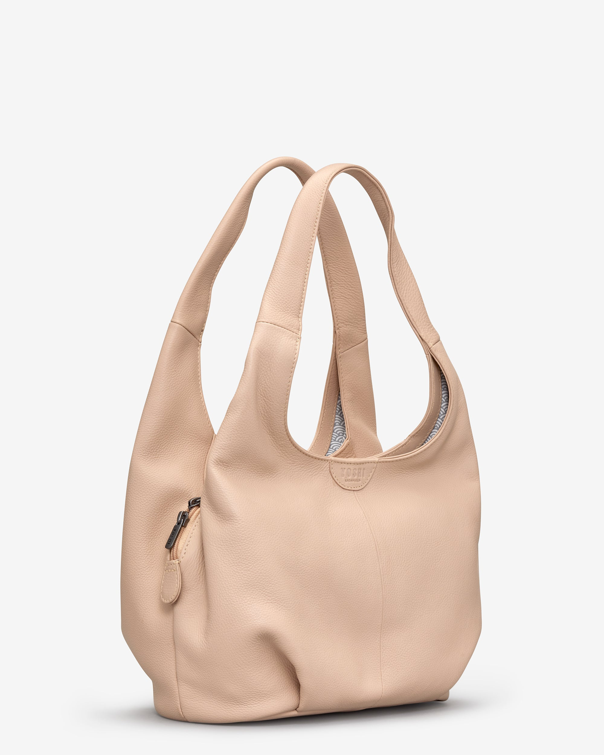 Meehan Frappe Leather Slouch Shoulder Bag - - Yoshi. Yoshi   Shoulder Bag 7dfe6edf23