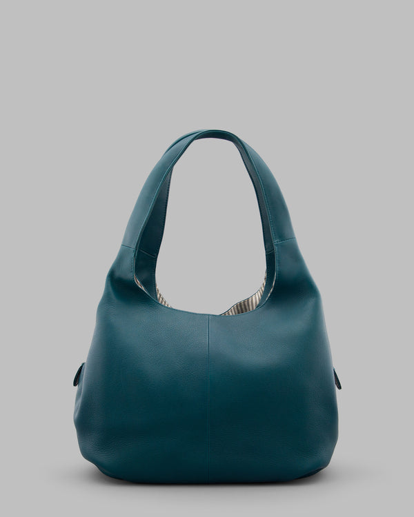 Meehan Teal Leather Shoulder Bag A
