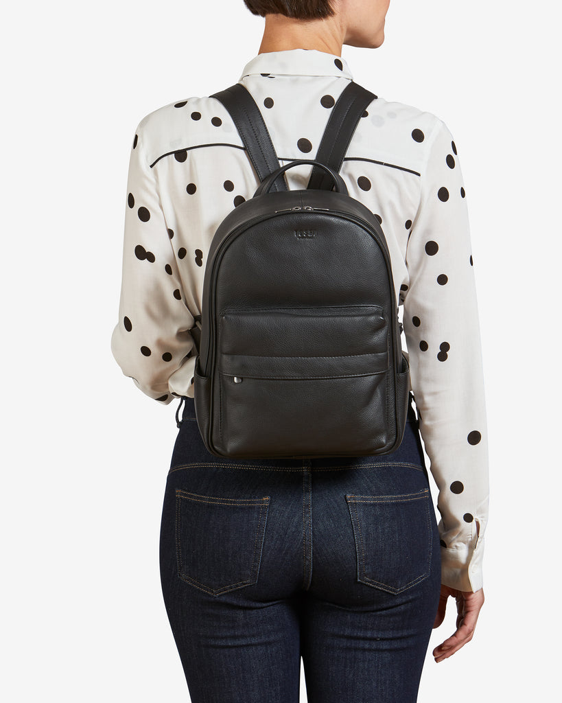 Mercer Black Leather Backpack -  - Yoshi