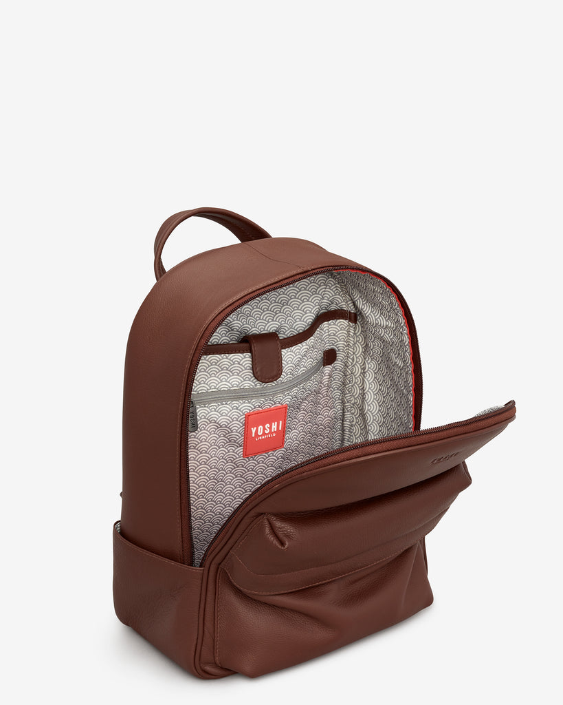 Mercer Brown Leather Backpack -  - Yoshi