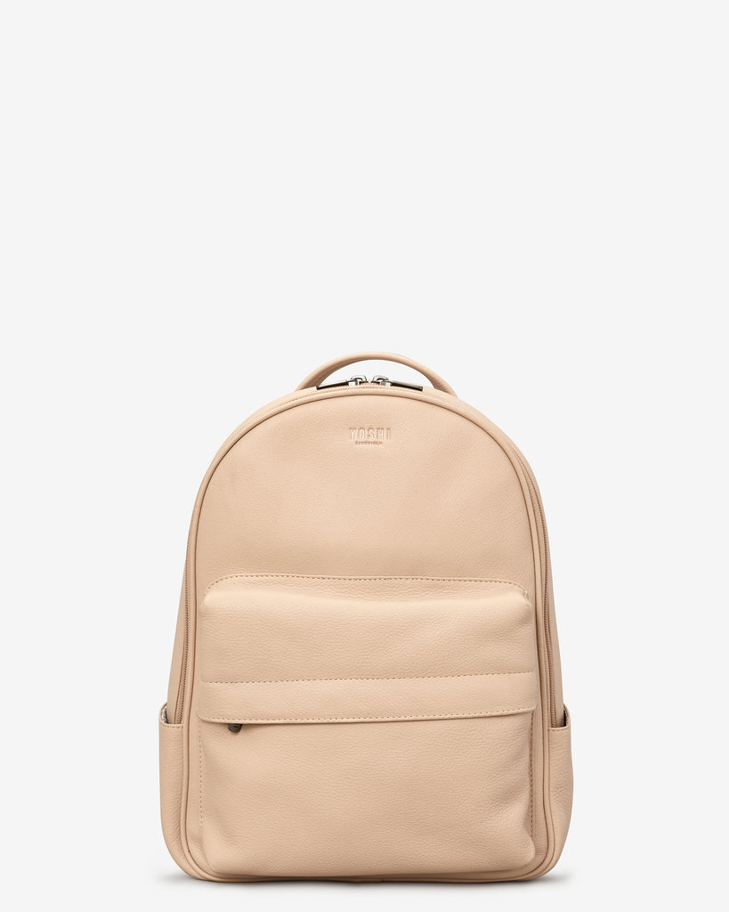 Mercer Frappe Leather Backpack Bag - Frappe - Yoshi