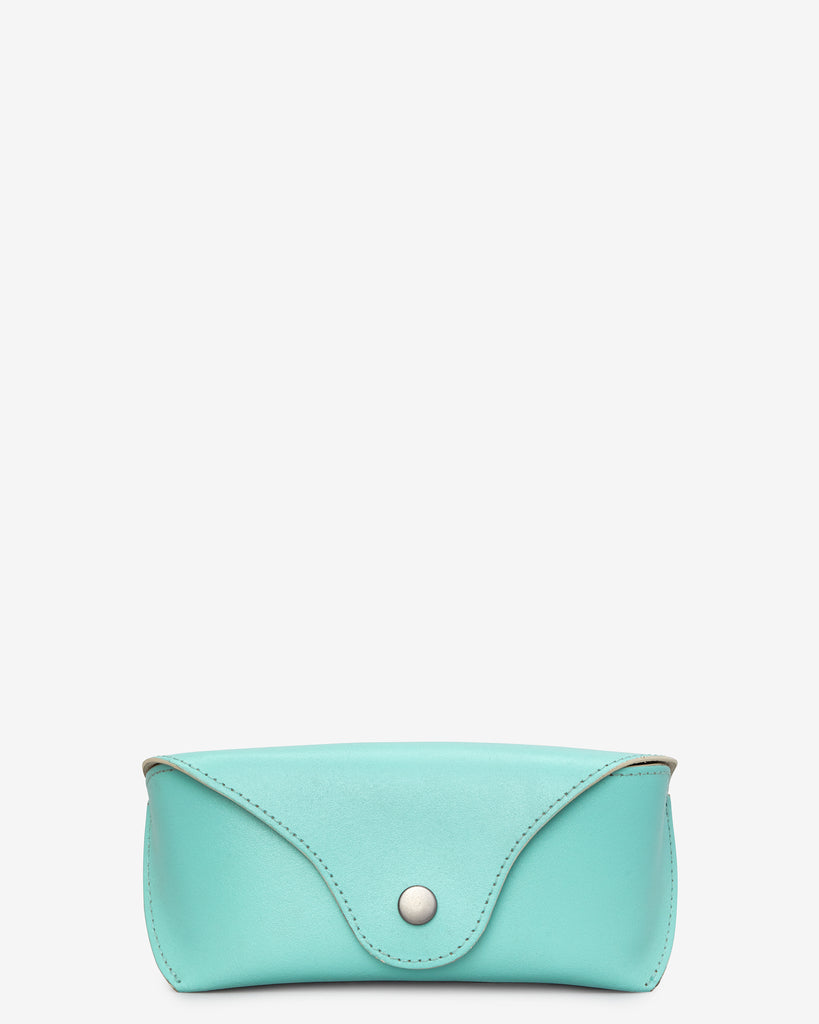Mint Green Leather Glasses Case - Mint Green - Yoshi