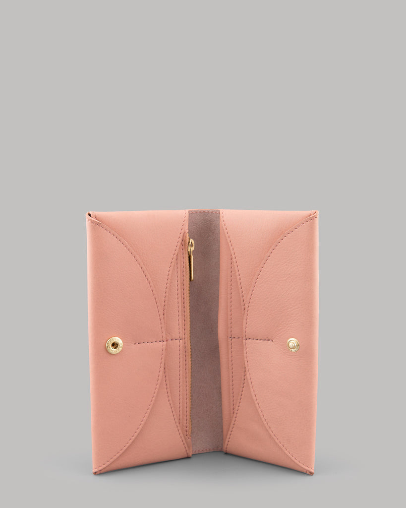 Montana Ladies Pink Leather Flap Over Purse by Yoshi