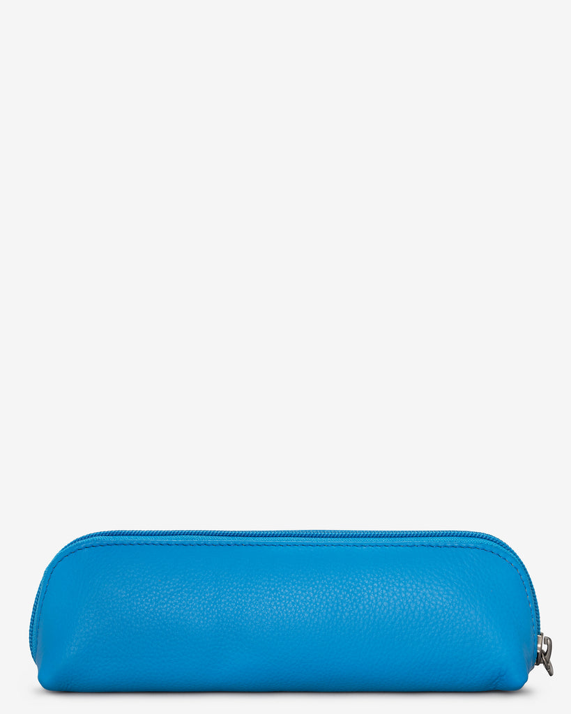 Morgan Cobalt Blue Leather Pencil Case - Yoshi