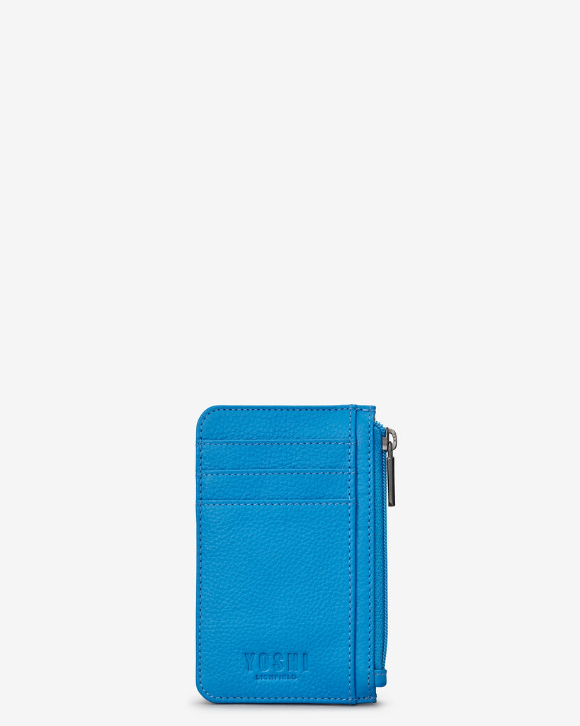 Cobalt Blue Leather Morton Card Holder - Yoshi