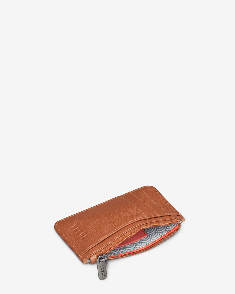 Tan Leather Morton Card Holder - Yoshi
