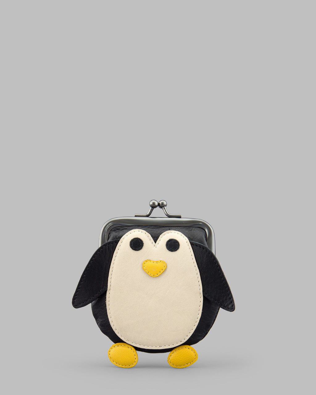 Mumble The Penguin Leather Clip Top Frame Purse a