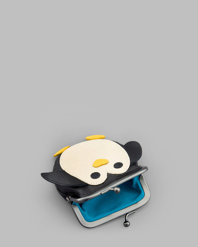 Mumble The Penguin Leather Clip Top Frame Purse -  - Yoshi