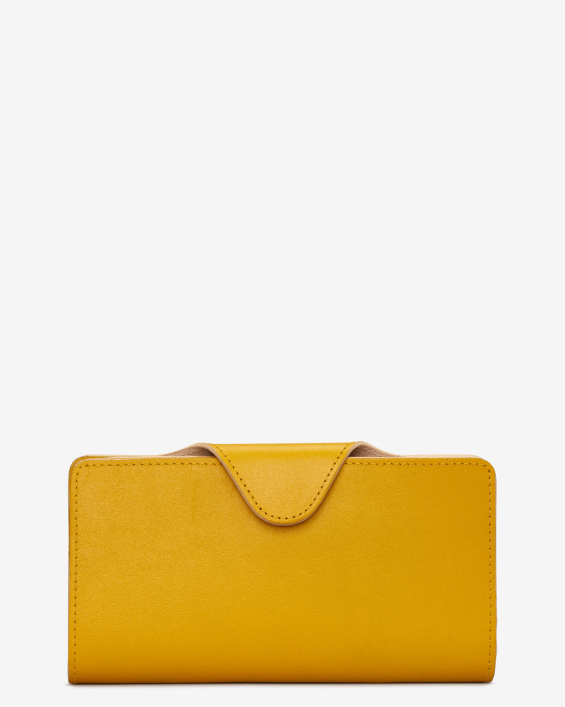 Mustard Yellow Satchel Leather Purse - Yoshi