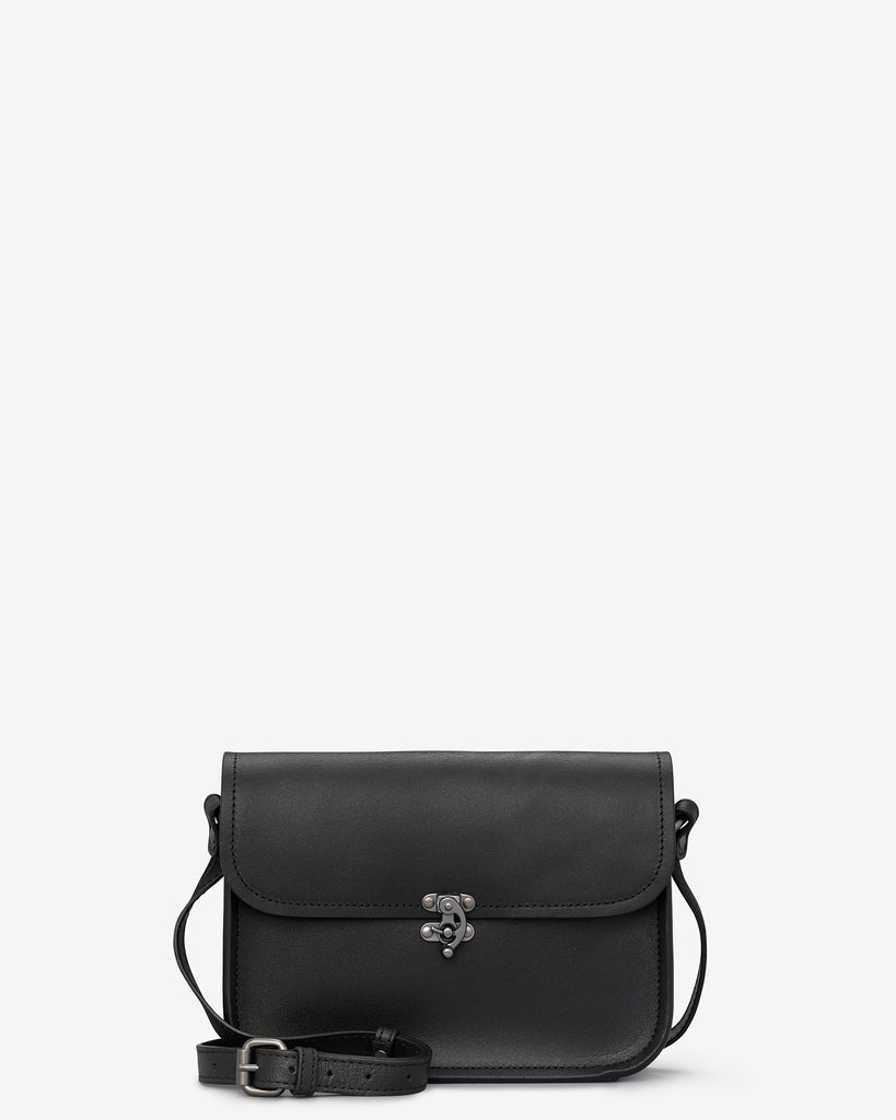 Newman Black Leather Cross Body Bag - Black - Yoshi