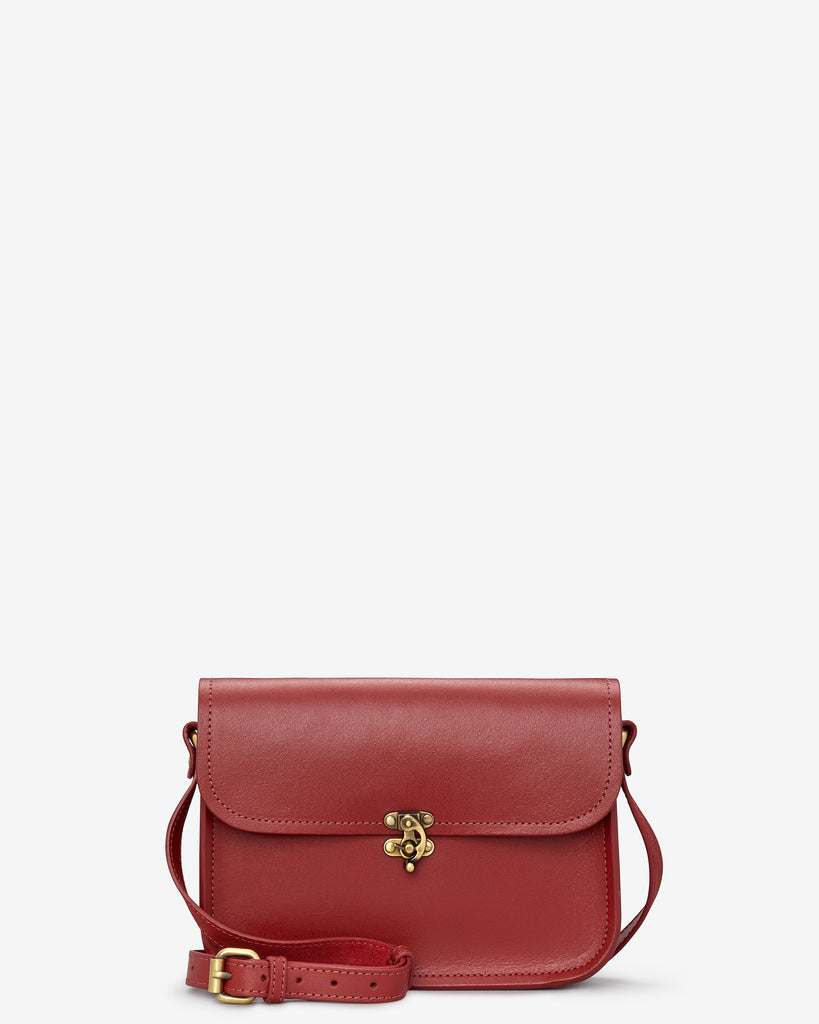 Newman Red Leather Cross Body Bag - Red - Yoshi