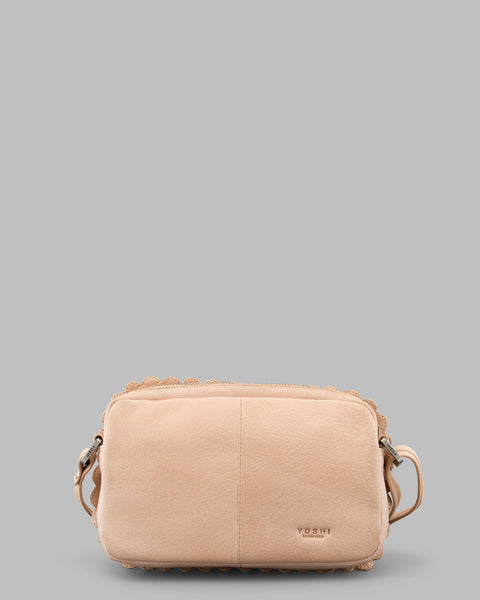 9f64963fef18 Nice Biscuit Cream Leather Cross Body Bag