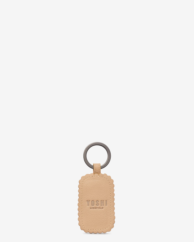 Nice Biscuit Leather Keyring b