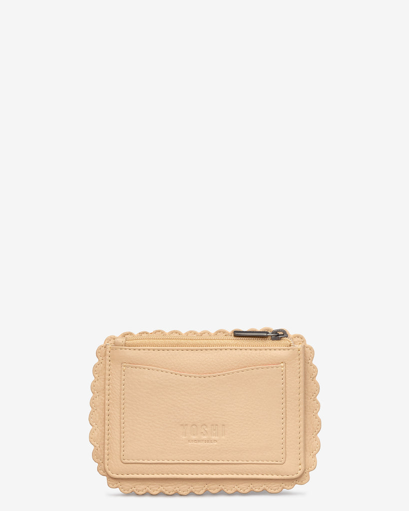 Nice Biscuit Zip Top Leather Purse - Yoshi