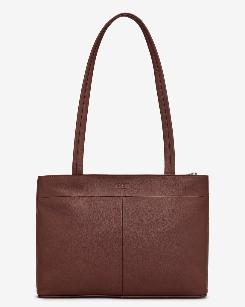 Nutcracker Brown Leather Shoulder Bag -  - Yoshi