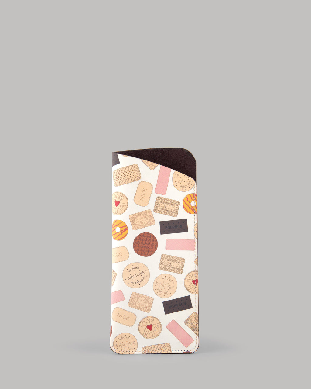 Oh Crumbs Biscuits Ladies Leather Glasses Case by Yoshi A