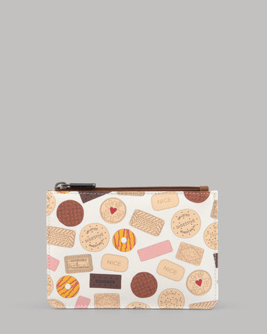 Oh Crumbs Biscuits Ladies Leather Slim Purse by Yoshi A