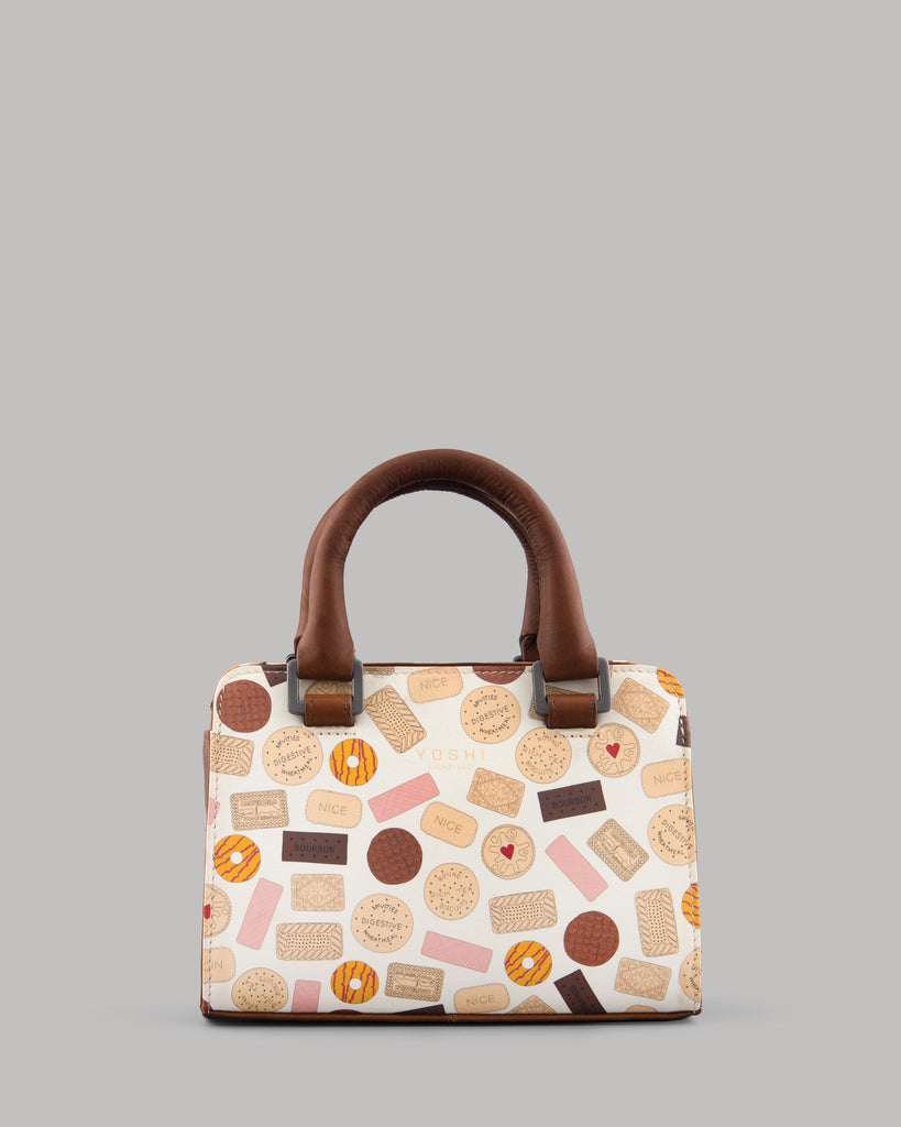 Oh Crumbs Biscuits Leather Mini Grab Bag by Yoshi A