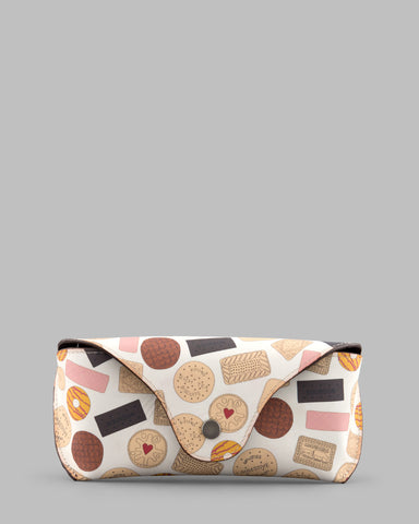 Oh Crumbs Biscuit Leather Glasses Case a