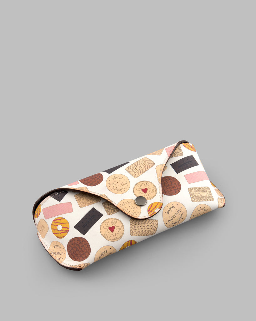 Oh Crumbs Biscuit Leather Glasses Case b