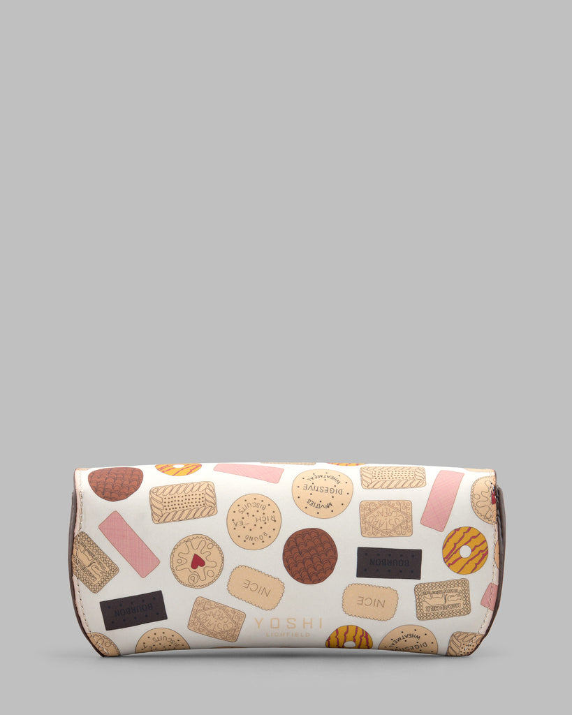 Oh Crumbs Biscuit Leather Glasses Case c