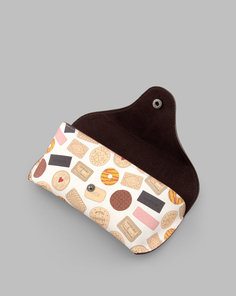 Oh Crumbs Biscuit Leather Glasses Case d