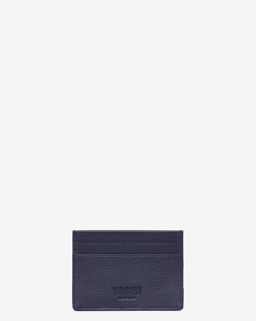 Owl You Need Navy Leather Academy Card Holder -  - Yoshi