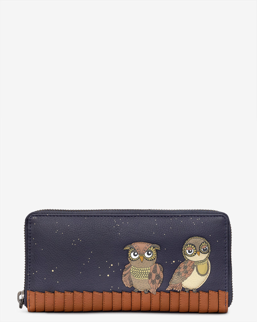 Owl You Need Navy Leather Baxter Purse - Yoshi